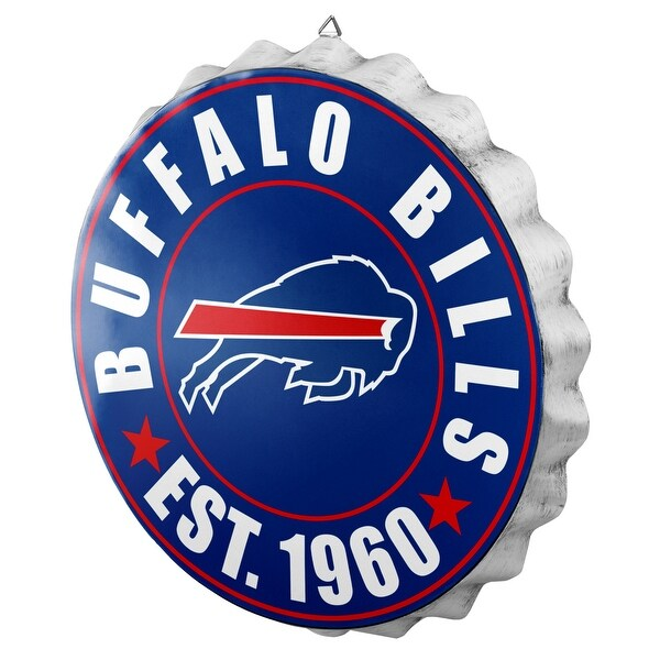 d6fe5589 Forever Collectibles Licensed NFL Bottlecap Wall Sign for Buffalo Bills
