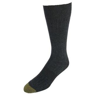 Gold Toe Men's Copper Plus Essential Ribbed Crew Socks