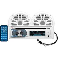 Boss Audio Mck508Wb.6 Marine Single-Din In-Dash Mp3-Compatible Cd Am/Fm Receiver With Bluetooth(R) & 2 Speakers