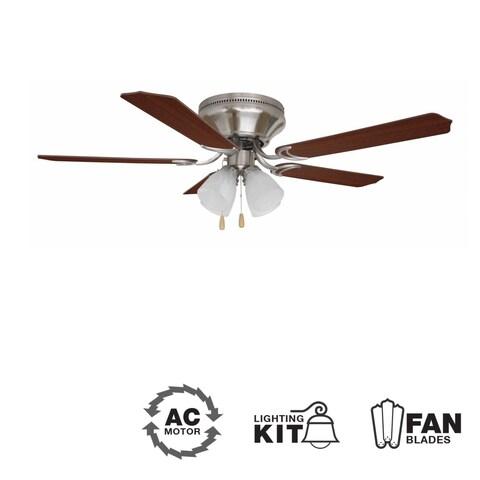 """Ellington Fans BRC525C Brilliante 52"""" 5 Blade Indoor Hugger Ceiling Fan - Blades and Light Kit Included"""