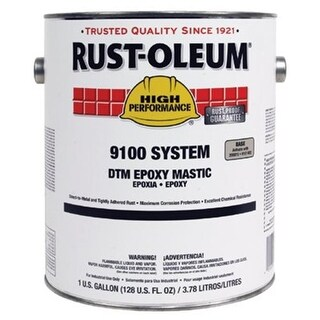 Rust-Oleum 647-9182402 1 Gal Dtm Epoxy Mastic Base Silver Gray