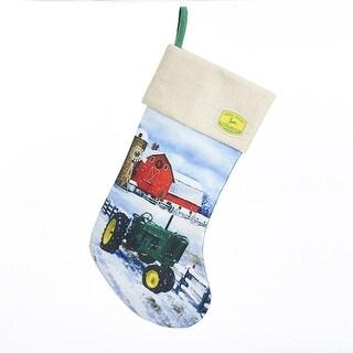 Pack of 4 Green and Yellow John Deere Christmas Stockings 19