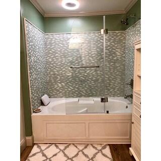 Exceptional DreamLine Aqua 48 Inch Frameless Hinged Tub Door