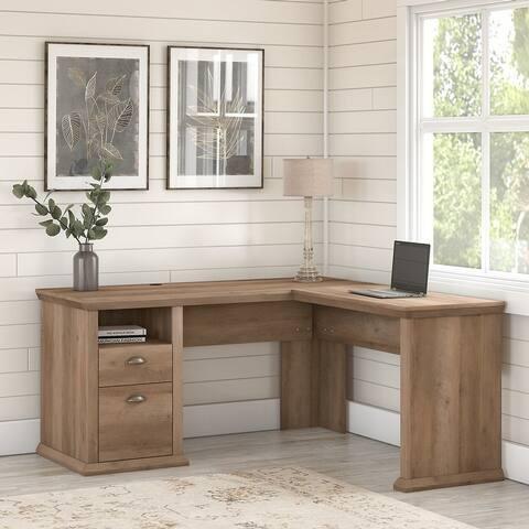 Yorktown 60W L Shaped Desk with Storage by Bush Furniture