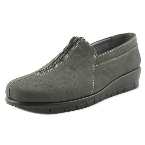 Aerosoles Great Plan Women Round Toe Leather Gray Loafer