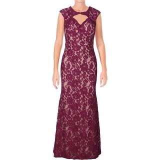 Xscape Womens Formal Dress Lace Mesh Back