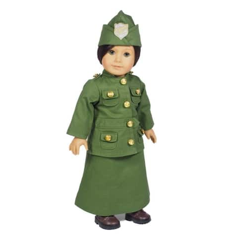 Three Piece WWI Salvation Army Uniform Fits 18 Inch American Girl Doll Doll Historic Clothes Outfit