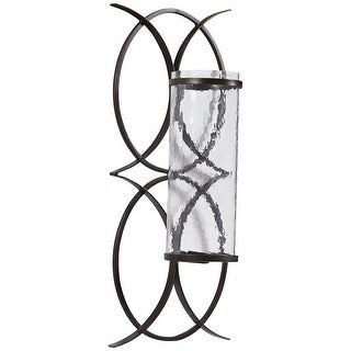 """Bryndis Contemporary Black Wall Sconce - 10""""W x 6""""D x 23""""H"""