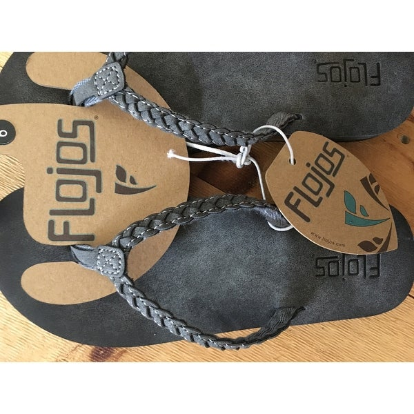 e767c1f58ca9 Shop Flojos Women s Sky Flip-Flop Charcoal - On Sale - Free Shipping On Orders  Over  45 - Overstock - 14391978
