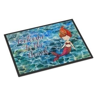 Carolines Treasures BB8521MAT Mermaid Water Welcome Indoor or Outdoor Mat - 18 x 27 in.