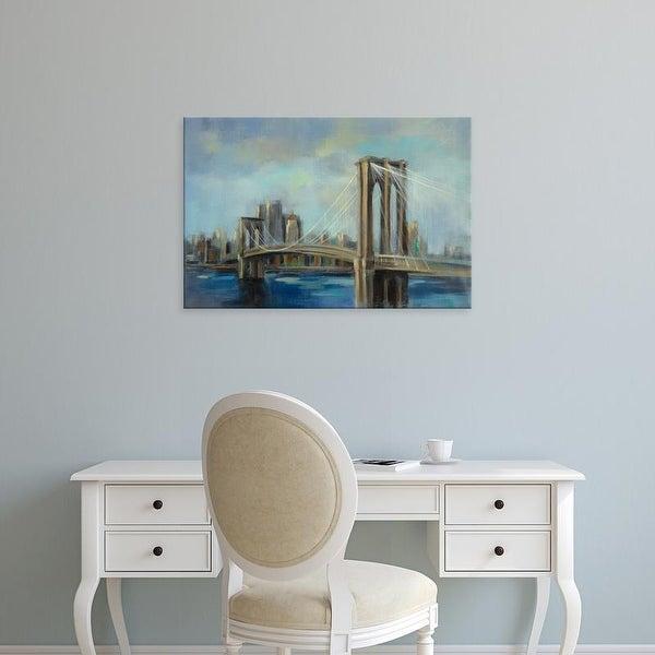 Easy Art Prints Silvia Vassileva's 'Brooklyn Bridge' Premium Canvas Art