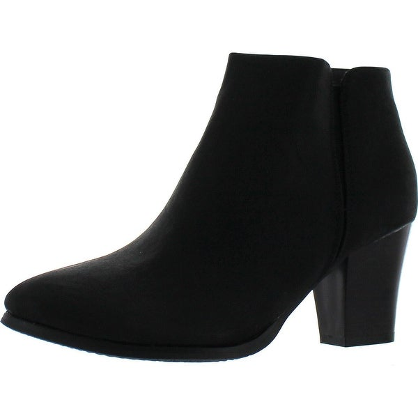 Reneeze Baba-04 Womens Fashionable Stacked Heels Ankle Booties - Black - 10 b(m) us