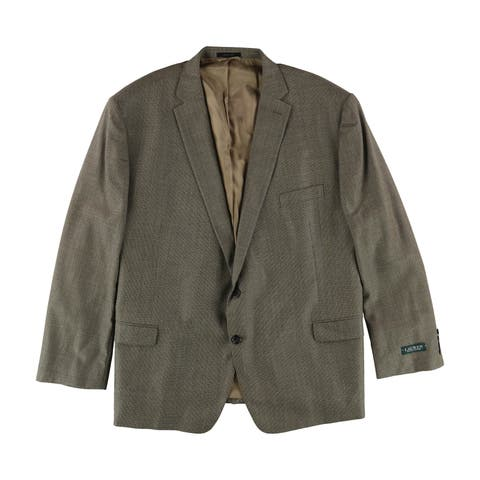 Perry Ellis Mens Classic-Fit Two Button Blazer Jacket - 46 Regular