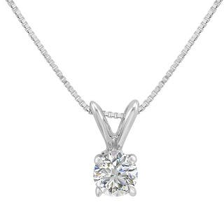 Solitaire diamond necklaces for less overstock amanda rose ags certified 13ct diamond solitaire pendant necklace in 14k white gold aloadofball Choice Image