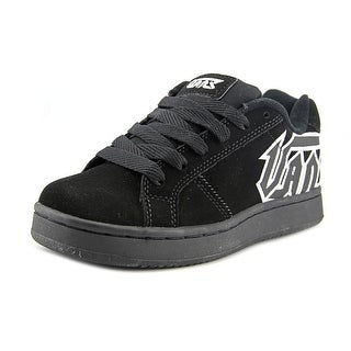 Vans Widow Youth Round Toe Leather Black Skate Shoe