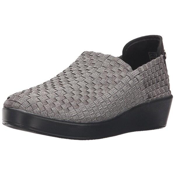 Bernie Mev Women's Smooth Cha Cha Slip-On Loafer, Gunmetal, Size 9.0