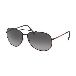 Prada Linea Rossa PS 55US 1BO5W1 61 Matte Black Man Pilot Sunglasses