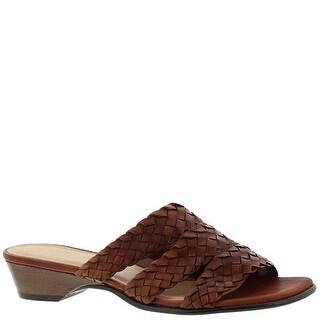 David Tate Womens Adagio Open Toe Casual Slide Sandals