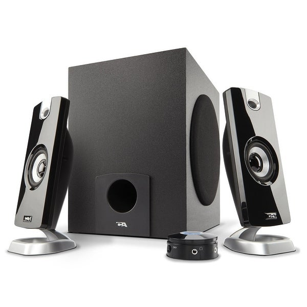 Cyber Acoustics Ca-3090 18W Peak Power Speaker System With Control Pod
