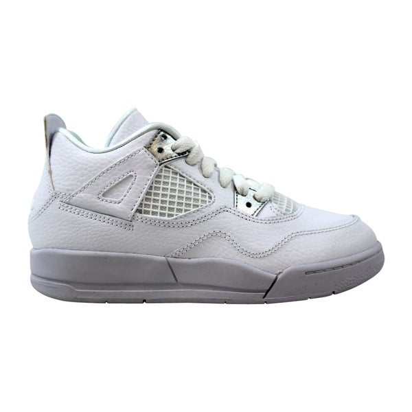 b5f756a310b538 Nike Air Jordan IV 4 Retro BP White Metallic Silver Pure Money 308499-100
