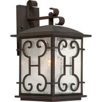 Forte Lighting 1136-01 1-Light Outdoor Wall Sconce with Lantern Shade - Antique Bronze - N/A