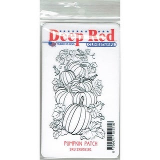 Deep Red Stamps Pumpkin Patch Rubber Cling Stamp - 2 x 3.2