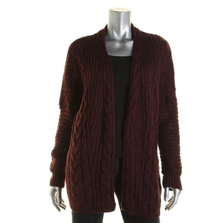 G.H. Bass & Co. Womens Open Front Cable Knit Cardigan Sweater