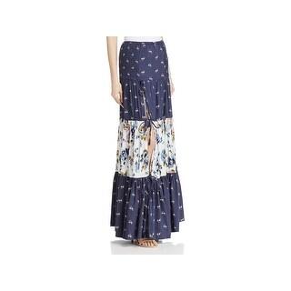 Banjara Womens Maxi Skirt Floral Print Long