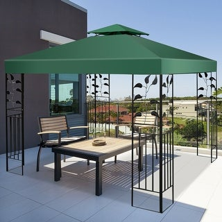 Costway 10' X 10' Gazebo Top Cover Patio Canopy Replacement 2-Tier 3 Color