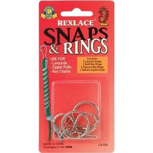 Rexlace Snaps & Rings-Nickel 7/Pkg - nickel 7/pkg