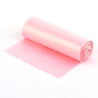 Dormitory Polyethylene Garbage Waste Rubbish Holder Container Bag Roll Pink