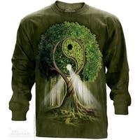 The Mountain Cotton Ying Yang Tree Adult Long Sleeve T-Shirt