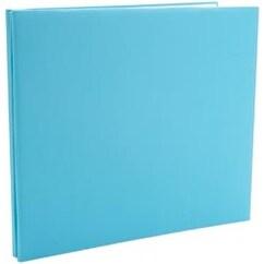 "Light Teal - Colorbok Post Bound Fabric Album 12""X12"""