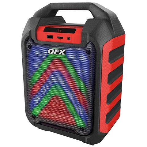 Portable Bluetooth Party Speaker System Red
