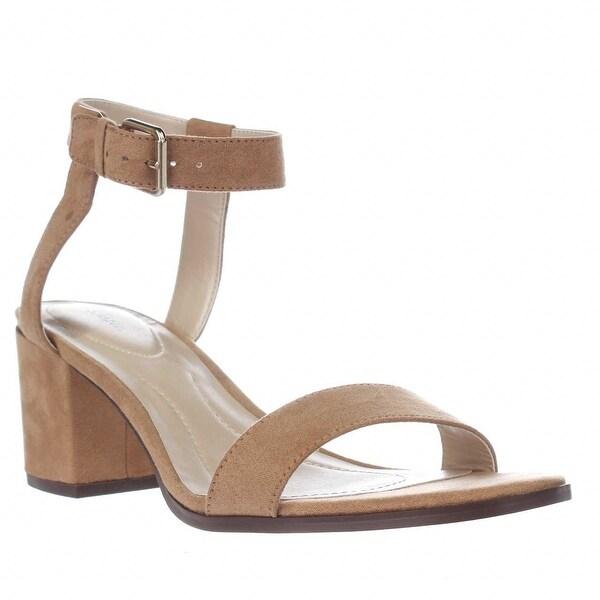 SC35 Mullaney Studded Ankle Strap Dress Sandals, Dark Natural - 8.5 us