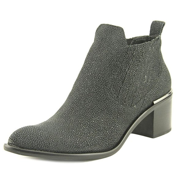 Dolce Vita Percy Women Round Toe Leather Black Bootie