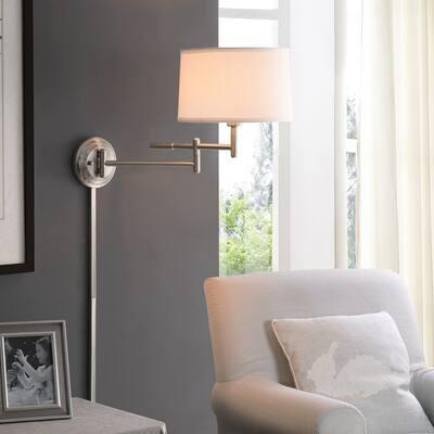 Copper Grove Marston 1-light Swing Arm Wall Lamp