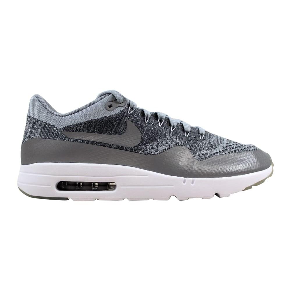 Nike Air Max 1 Ultra Flyknit Wolf GreyWolf Grey Dark Grey White 843384 001 Men's
