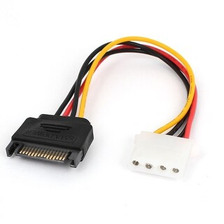 Unique Bargains SATA IDE 4Pin Female to 15Pin Male F/M Connector Power Cable Lesd 8