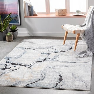 Link to Isla Modern Marbled Area Rug Similar Items in Industrial Rugs