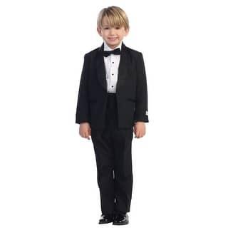 Little Boys Black No Tail Round Shawl Collar Elegant 5 Pc Tuxedo Suit|https://ak1.ostkcdn.com/images/products/is/images/direct/b936397f2e391d830a48543cb53f9d654a8049f9/Little-Boys-Black-No-Tail-Round-Shawl-Collar-Elegant-5-Pc-Tuxedo-Suit-2T-7.jpg?impolicy=medium