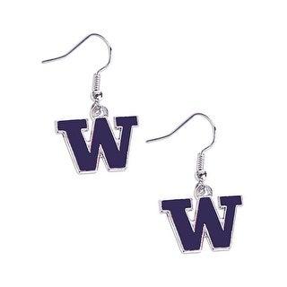 Washington Huskies Dangle Logo Earring Set NCAA Charm Gift
