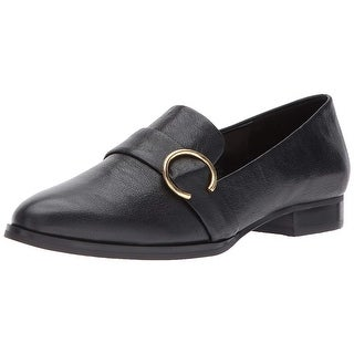 Nine West Womens Nwhuff Leather Almond Toe Loafers