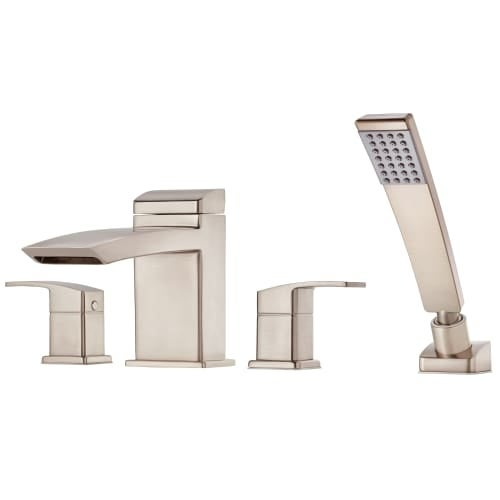 Pfister RT6-4D1 Kenzo Deck Mounted Roman Tub Faucet Trim with Hand ...