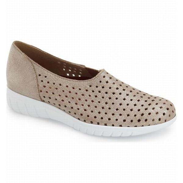 Munro NEW Beige Women Shoes Size 5WW Skipper Leather Sneaker