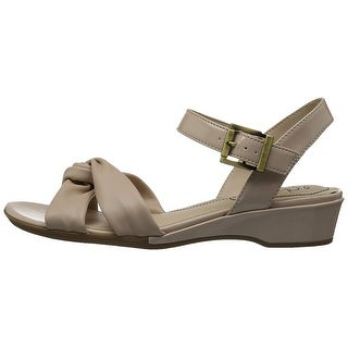 LifeStride Womens Monaco Open Toe Casual Ankle Strap Sandals