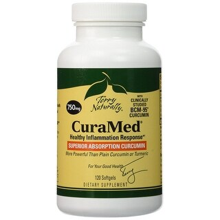 Terry Naturally CuraMed 750 mg - 120 Softgels - Healthy Inflammation Response - Superior Absorption Curcumin - Non-GMO