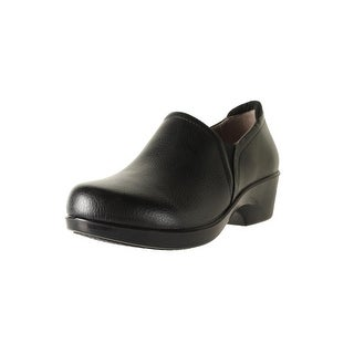 Naturalizer Womens Freeda Tumbled Leather Clogs - 8 wide (c,d,w)