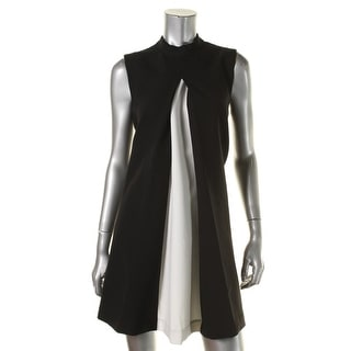 Rachel Zoe Womens Ponte Colorblock Party Dress - 8