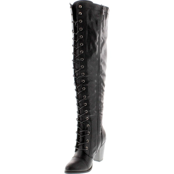 The Knee Brown High Riding Boots
